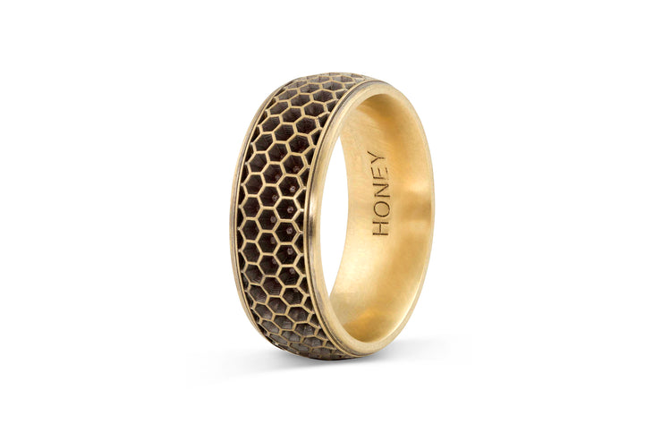 Men's Honeycomb Wedding Band - 8.5mm