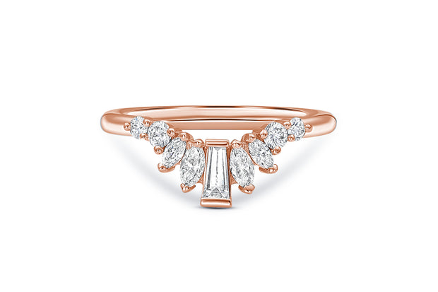 Baguette, Round, & Marquise Diamond Wedding Ring