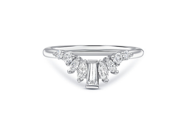 Baguette, Round, & Marquise Wedding Ring