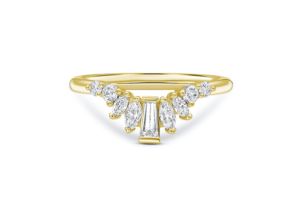 Baguette, Marquise, & Round Diamond Wedding Band