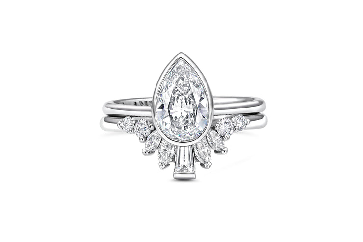 Marquise, Round, & Baguette Diamond Wedding Band