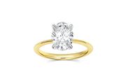 Four Prong Oval Solitaire Engagement Ring