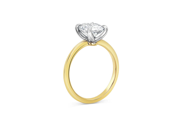 Four Prong Solitaire Oval Engagement Ring