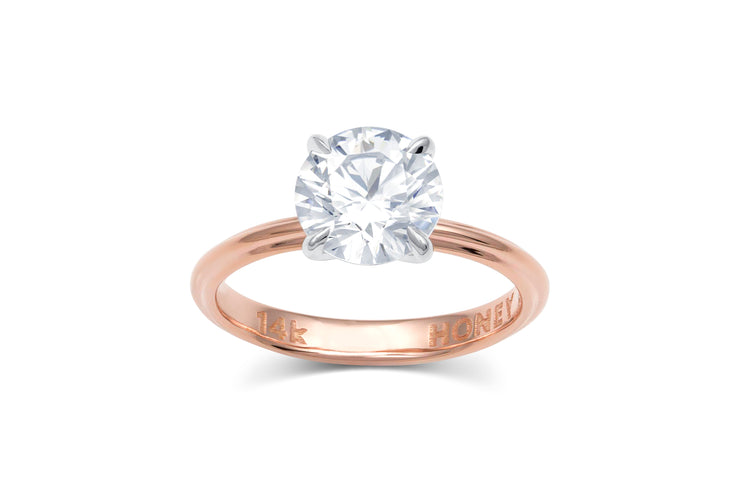 Round Solitaire Four Prong Engagement Ring