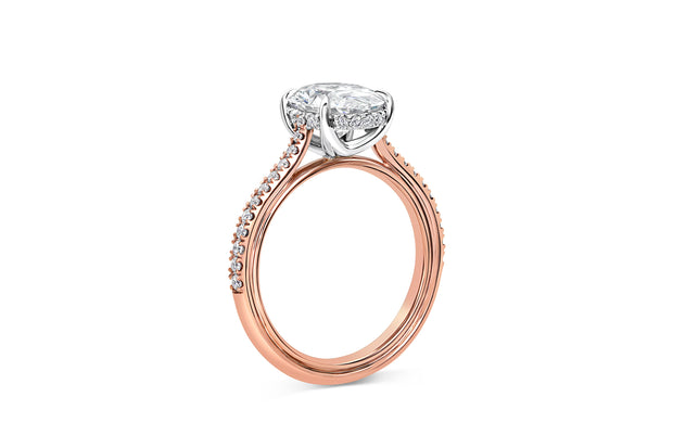 Pave Engagement Ring in Rose Gold