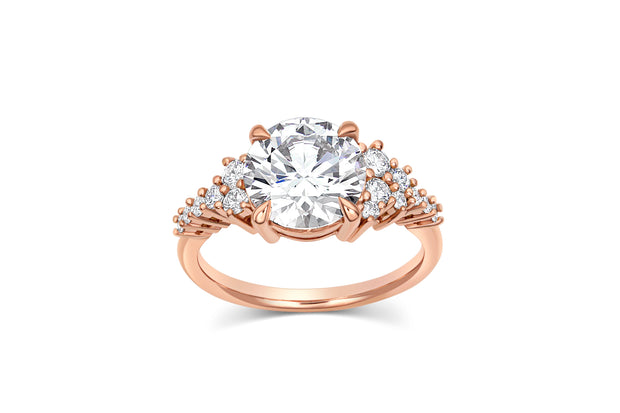 Asymmetrical Engagement Ring | Rose Gold