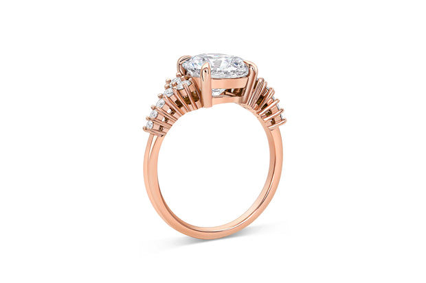 Asymmetric Engagement Ring