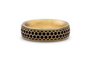 Men's Honeycomb Wedding Band - 6.5mm