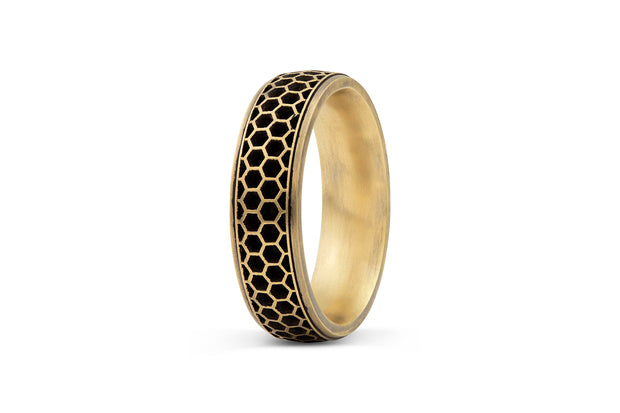 Honeycomb Wedding Band  - 6.5mm