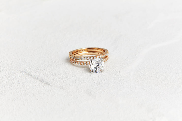 Solitaire Round Cut Engagement Ring | Gold