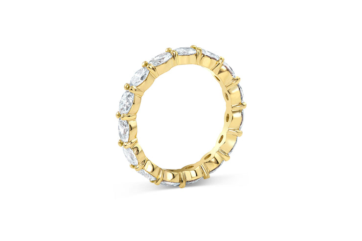 East West Oval Cut Diamond Eternity Band