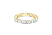 East West Oval Eternity Band in Yellow Gold