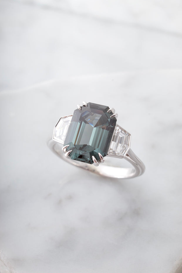 3.12ct Natural Spinel and Diamond ring