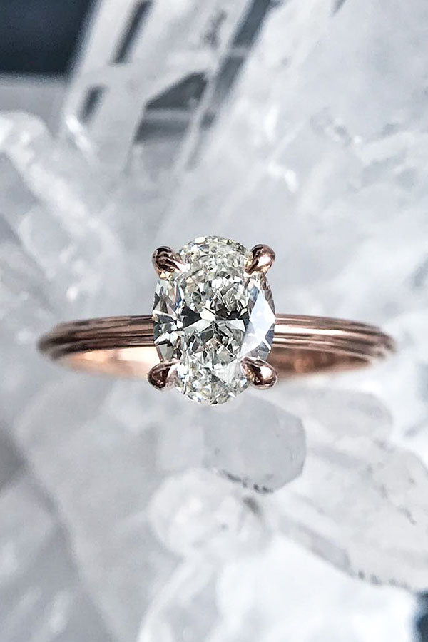 Oval Cut Simple Engagement Ring