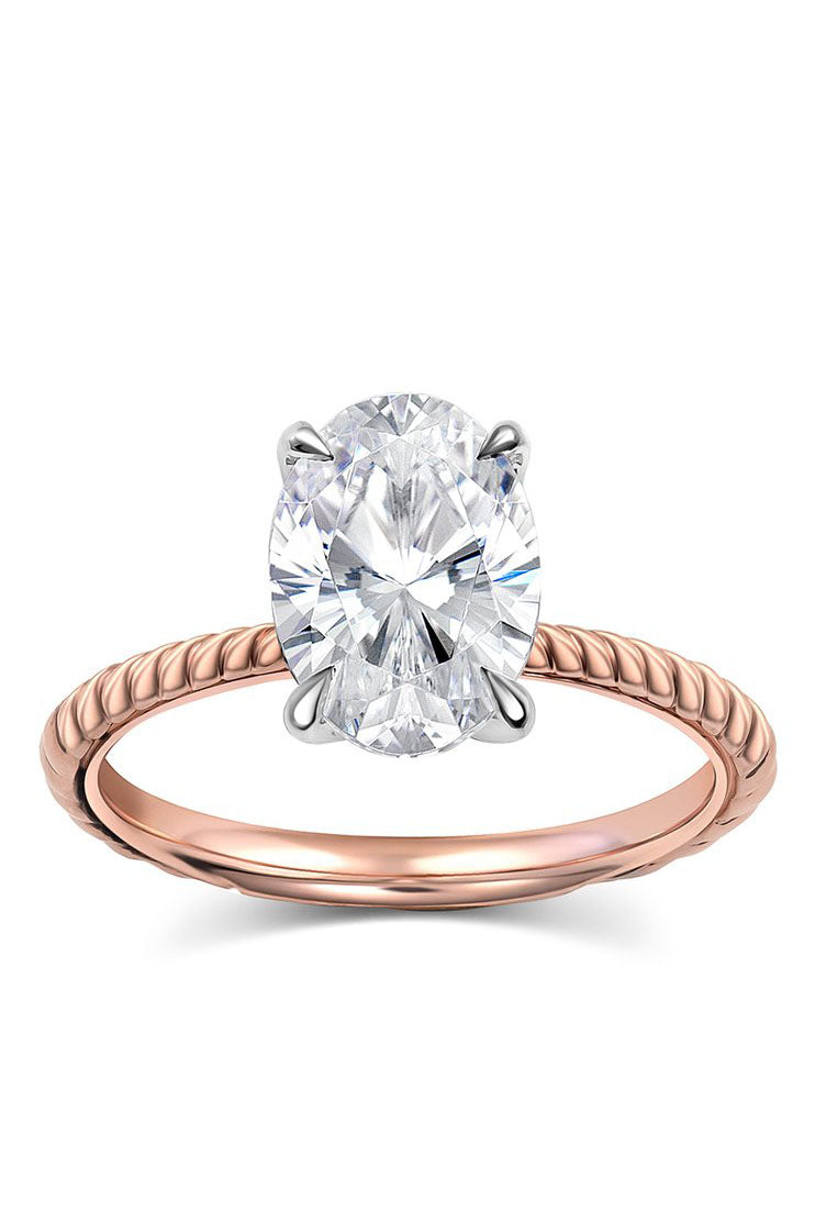 Oval Twisted Engagement Ring