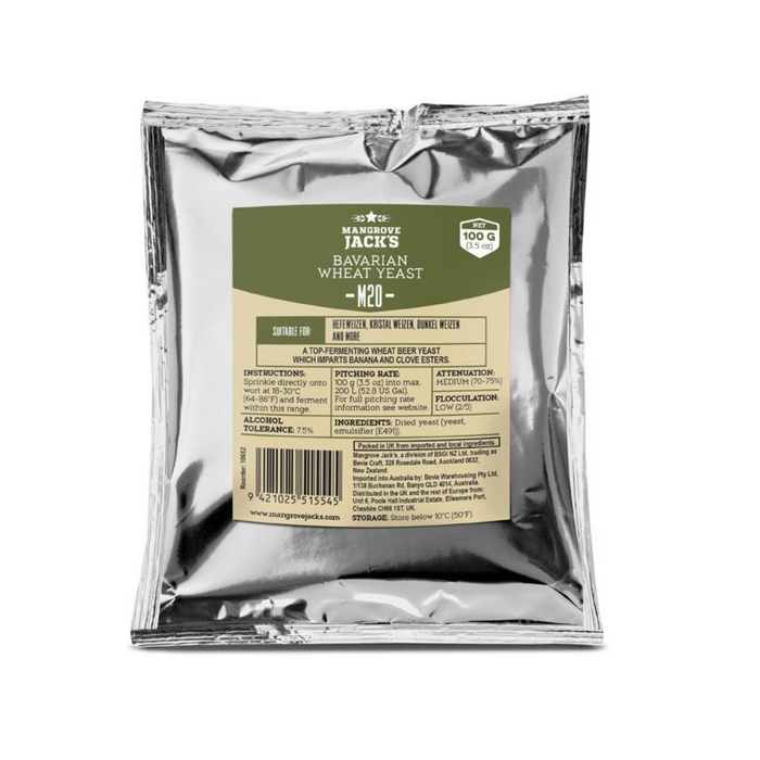 Mangrove Jack's CS Yeast M20 Bavarian Wheat (100g)