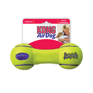 KONG AirDog Squeaker Dumbbell Nonabrasive Felt Small Toy For Dogs