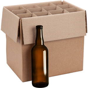 Amber Beer Bottles 750mL (12 Pack) without lids