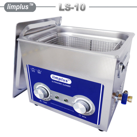 Limplus 10liter 2.6Gallon Fruit Vegetables Ultrasonic Cleaner 30minute Timer