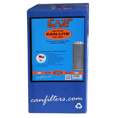 "Can-Filter Can-Lite 4"" 250 CFM Carbon Filter"