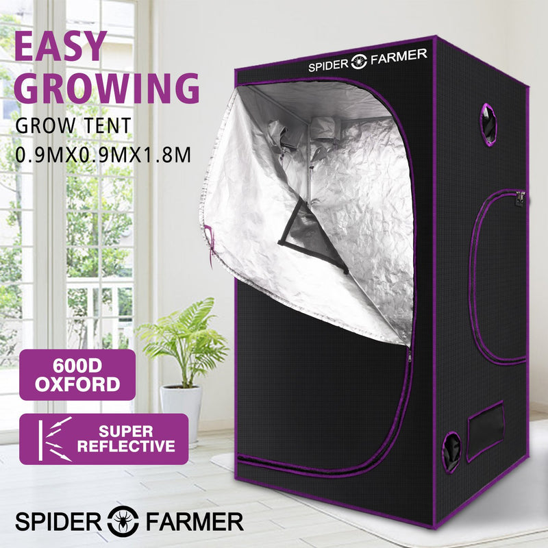 SPIDER FARMER 3'x3'x6' 90cm x 90cm x 180cm Indoor Grow Tent