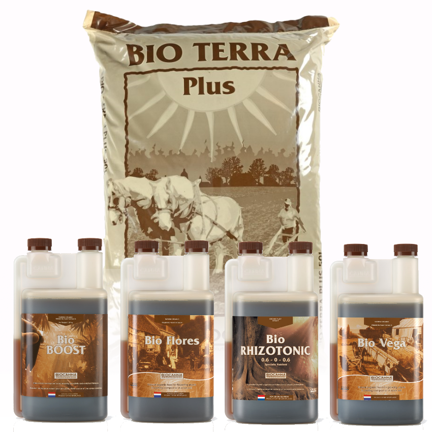 BIOCANNA Organic Nutrients Kit 1L + Bio Terra Plus 50L