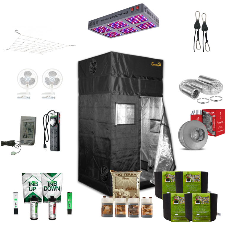 Growbuds 3' x 3' Grow Tent Setup
