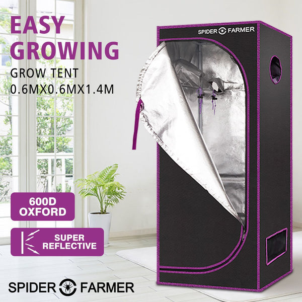 Spider Farmer 2'x2'x5' 60cm x 60cm x 140cm Indoor Grow Tent