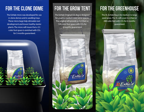 The ExHale XL Homegrown Climate Control and CO2 Bag