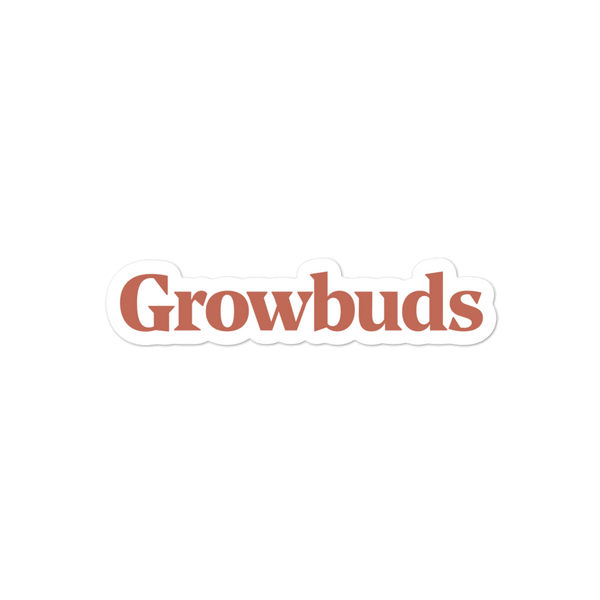 Growbuds Red Sticker