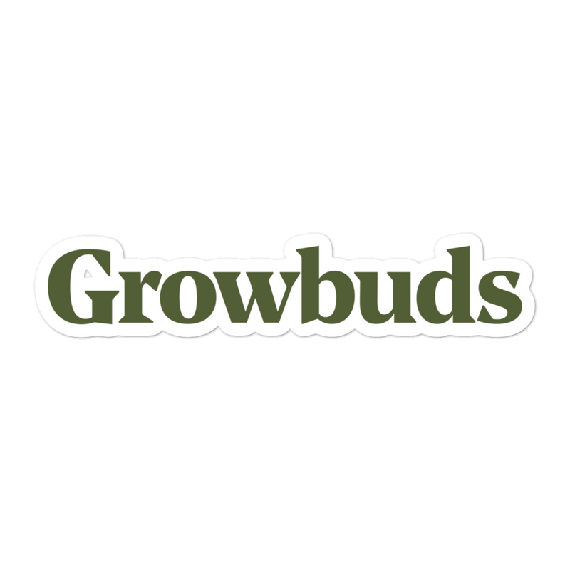 Growbuds Green Sticker