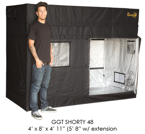 Gorilla Grow Tent 4' x 8' Shorty Series GGT48SH
