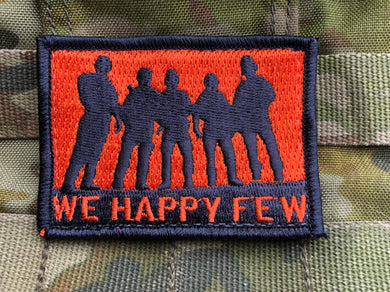 WHF Morale Velcro Patch - Orange/Black Velcro