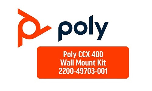 2200-49703-001 Poly CCX 400 Phone Wallmount Kit (Refurb)