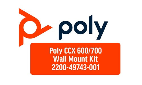 2200-49743-001 Poly CCX 600 Phone Wallmount Kit (Refurb)