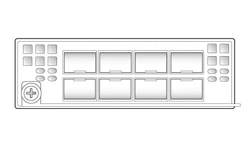 FPR9K-NM-8X10G Cisco FirePOWER 9000 Network Module (New)