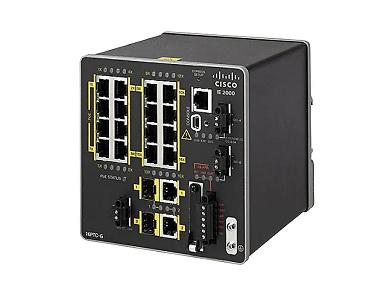 IE-2000-16PTC-G-E Cisco Industrial Ethernet 2000 Switch, 16 FE/2 SFP Ports, LAN Base (New)