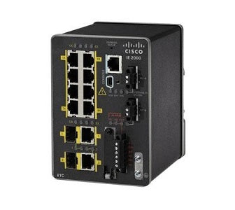 IE-2000-8TC-G-L Cisco Industrial Ethernet 2000 Switch, 8 FE/2 Combo GE SFP, LAN Lite (Refurb)