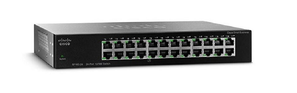 SF110-24-NA Cisco SF110-24 Unmanaged Small Business Switch, 24 Port 10/100 (Refurb)