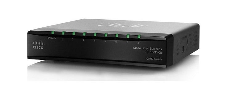 SF110D-08-NA Cisco SF110D-08 Unmanaged Small Business Switch, 8 Port 10/100 (Refurb)