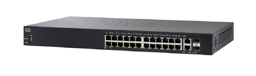 SF250-24-K9-NA Cisco SF250-24 Smart Switch, 24 Port 10/100 (Refurb)
