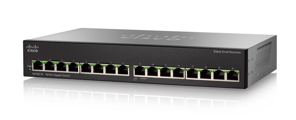 SG110-16-NA Cisco SG110-16 Unmanaged Small Business Switch, 16 Port Gigabit (Refurb)