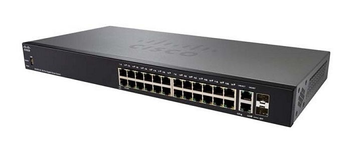 SG250-26P-K9-NA Cisco SF250-26P Smart Switch, 24 Gigabit/2 SFP Combo Ports, 195w PoE (New)