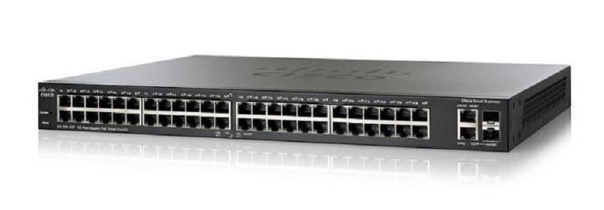 SG250-50HP-K9-NA Cisco SF250-50HP Smart Switch, 48 Gigabit/2 SFP Combo Ports, 192w PoE (Refurb)