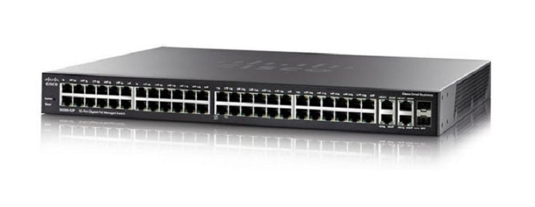 SG300-52MP-K9-NA Cisco Small Business SG300-52MP Managed Switch, 50 Gigabit/2 Mini GBIC Combo Ports, 740w PoE (Refurb)