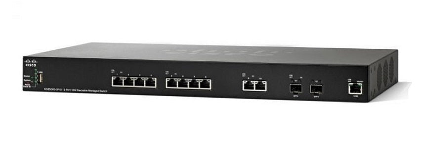 SG350XG-2F10-K9-NA Cisco SG350XG-2F10 Stackable Managed Switch, 10 10GBase-T and 2 10Gig SFP+ Ports (New)
