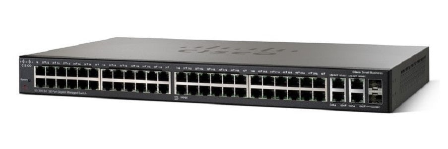 SRW2048-K9-NA Cisco Small Business SG300-52 Managed Switch, 50 Gigabit/2 Combo Mini GBIC Ports (New)