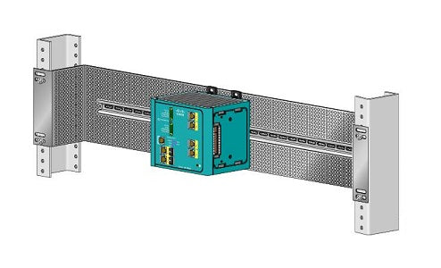 STK-RACK-DINRAIL Cisco DIN Rail Mounting Kit, 19 inches (New)