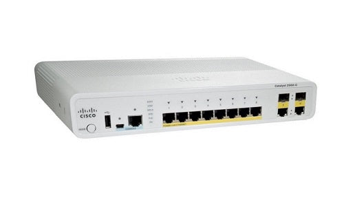 WS-C2960C-8PC-L Cisco Catalyst 2960C Network Switch (New)