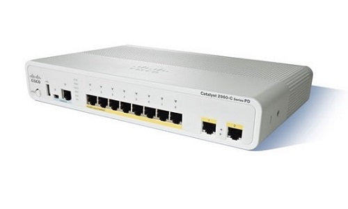 WS-C2960CPD-8PT-L Cisco Catalyst 2960C Network Switch (Refurb)